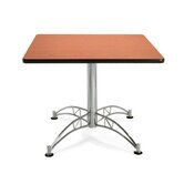 "36"" Square Multi-Purpose Polished Aluminum Table"