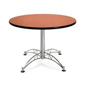 Multi-use 29.5&quot; x 42&quot; Round Table with Chrome Plated Base