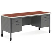 Executive Series Double Pedestal Computer Desk