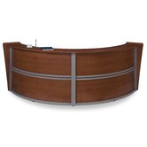 Double Unit Curved Stylish Reception Station