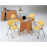 Conference Table with Sliding Door Credenza and Optional Arm Chairs