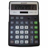 EL-R297BBK Recycled Series Calculator w/Kick-stand, 12-Digit, LCD, Black