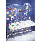 Shower Curtain with 100 Pouches