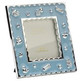 Baby Enamel Photo Frame Boy Blue Frame