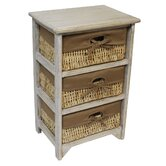Maize 3 Drawer Wood Cabinet