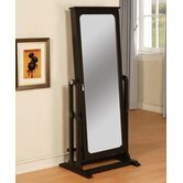 Cheval Jewelry Armoire in Antique Black