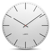 One Wall Clock with White Index Dial in Aluminium