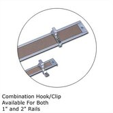 .5Map Rail Accessories - Combination Hook/Clip (Qty. 4)