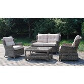 Winchester 4 Seater High Back Sofa Set