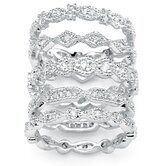 Cubic Zirconia Stackable Ring Set