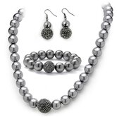 Pearl Crystal Jewelry Set