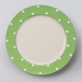 DO NOT SET LIVE!Dots Green 11&quot; Dinner Plate