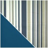 Newport Navy Stripe Designer Print Cover