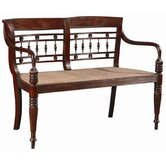 Dutch Mahogany and Cane Bench