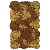 Nature's Beauty Oak Tropical Leaves Rug
