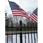 Flag Holder with USA Flags Set
