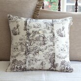 Farmhouse Toile Porch Pillow