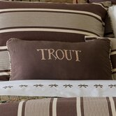Trout Embroidered Pillow