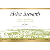 Personalized White Wine Label