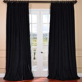 Signature Double Wide Velvet Blackout Curtain