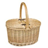 Buff Oval Picnic Basket