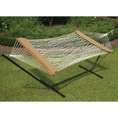 Single Cotton Rope Soft Sides Hammock &amp; Stand