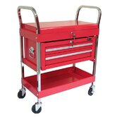 Rolling Metal Tool Cart with 2 Drawers