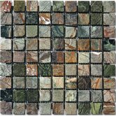 "1"" x 1"" Tumbled Marble Mosaic in Rain Forest"