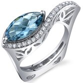 Filigree Style 2.00 Carats Marquise Cut Ring in Sterling Silver