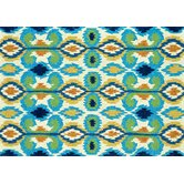 Enzo Ivory/Blue Indoor Rug