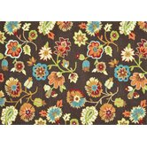 Juliana Brown Floral Rug