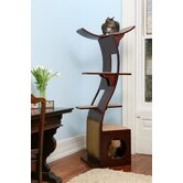 "69"" The Lotus Cat Tree in Espresso"