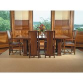 "Frank Llloyd Wright Dana-Thomas 84 - 124"" W x 42"" D Grand Extension 7 Piece Dining Set"
