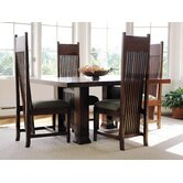 "Frank Llloyd Wright Dana-Thomas 60 - 84"" W x 42"" D Extension 5 Piece Dining Set"