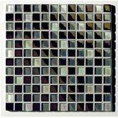 "Metallica  1"" x 1"" Glass Mosaic in Mix Metallica Grigio"