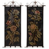 Floral Leather Wall Tapestries (Set of 2)