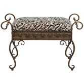 Metal Upholstered Bench