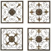 Metal Wall Plaque Set