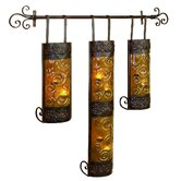 Metal and Glass Tealight Sconce