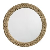 Round Braided Jute Mirror