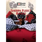 Sherpa Fleece Paw Dog Fibre Bed