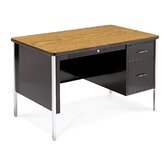 Single Pedestal Teacher's Computer Desk