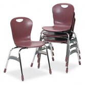 Ergonomic Stack Chair, 18h Zuma Bucket Seat, Wine, Four/Carton