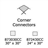 8700 Series Corner Connector (24&quot; x 30&quot;)