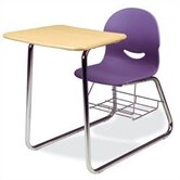 I.Q. Series 32&quot; Plastic Combo Chair Desk with Sled-Base