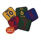 Bilingual Number 1-10 in English and Spanish Kids Rug