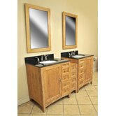 "Elmhurst 73"" Double Basin Vanity with 12"" Center Drawers Unit"