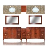 "Metropolitan 109"" Double Basin Vanity with 12"" Center Drawers Unit"