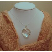 Sterling Silver Swarovski Crystal &quot;Full Moon&quot; Necklace