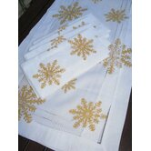 Snowflake Runner and Snowflake Dinner Napkin Set